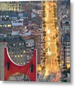 Bilbao Street Metal Print