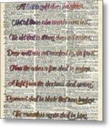 Bilbo Baggins Quote Vintage Art Metal Print