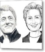 Bill And Hillary Metal Print
