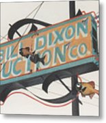 Bill Dixon Auction Metal Print