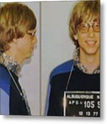 Bill Gates Mug Shot Horizontal Color Metal Print