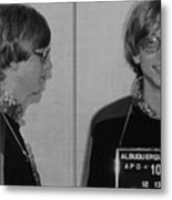 Bill Gates Mug Shot Horizontal Black And White Metal Print