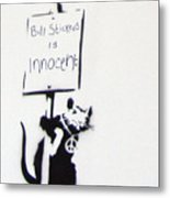 Bill Stickers Is Innocent Metal Print by Amy Bernays