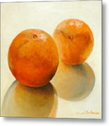 Billes Oranges Metal Print