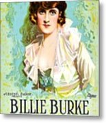 Billie Burke In The Misleading Widow 1919 Metal Print