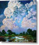 Billowing Clouds Metal Print