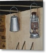 Billy Can And Oil Lamp Metal Print