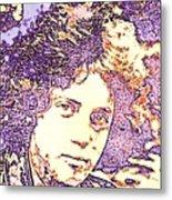 Billy Joel Pop Art Metal Print