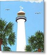 Biloxi Lighthouse Painting Metal Print