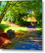 Biltmore Mansion Walking Path Metal Print