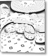 Binary Distortions Metal Print