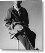 Bing Crosby Pebble Beach Bw Metal Print