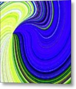 Bionetwork Flow Metal Print