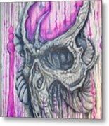 Bioskull1 Metal Print