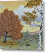 Birch And Oak Frienship Metal Print