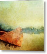 Birch Bark Canoe At Rest Metal Print