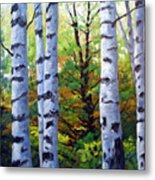 Birch Buddies Metal Print