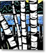 Birch Lake Metal Print by Jane Croteau
