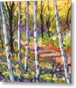 Birches 02 Metal Print