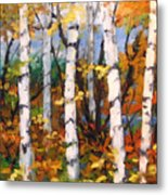 Birches 03 Metal Print