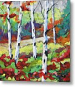 Birches 07 Metal Print