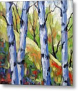 Birches 09 Metal Print