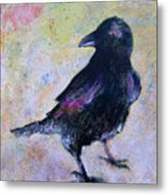 Bird Above His Chamber Door Metal Print