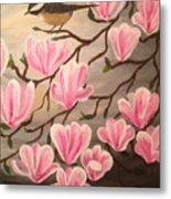 Bird And Flowers Metal Print