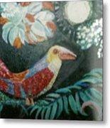 Bird And Moonshine Metal Print