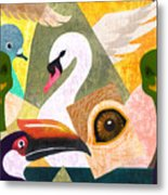 Bird Composition Metal Print