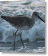 Bird In Waves Metal Print