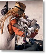 Bird Man Metal Print