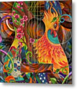Bird Of Fire Guitar Metal Print