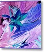 Bird Of Paradise In Blue Metal Print