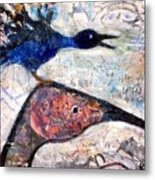 Bird On Bird Metal Print
