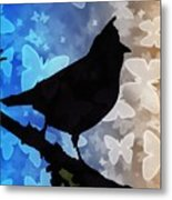 Bird On Branch Metal Print
