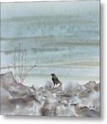 Bird On The Shore Metal Print