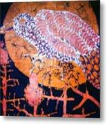 Bird On Thistle At Sundown Metal Print