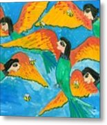 Bird People Little Green Bee Eaters Of Upper Egypt Metal Print