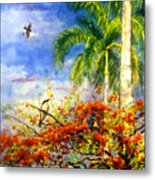 Bird Protected By Her Mother Metal Print