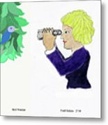 Bird Watcher Metal Print