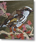 Bird White Eye Metal Print