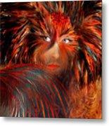 Bird Woman Metal Print