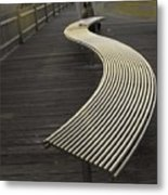 Birdbench Metal Print