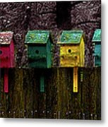 Birdhouse Beachfront Metal Print