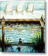 Birdhouse Haven Metal Print