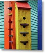 Birdhouses For Colorful Birds 6 Metal Print