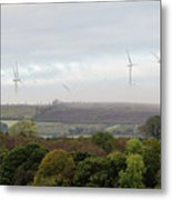Birds And Wind Turbines  Metal Print