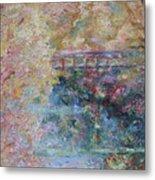 Birds Boaters And Bridges Of Barton Springs - Autumn Colors Pedestrian Bridge Metal Print