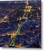 Bird's Eye On Paris 2 Metal Print